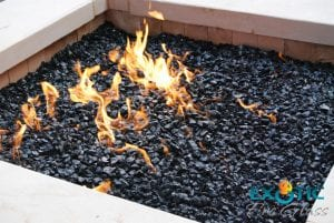 how to light lava rock fire pit
