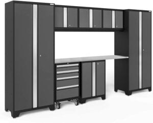 NewAge Products Bold Series Gray 8 Piece Set, Garage Cabinets