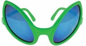 U.S. Toy Alien Glasses Green Sunglasses